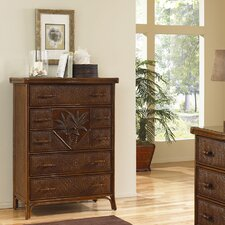 <strong>Hospitality Rattan</strong> Cancun Palm 5 Drawer Chest