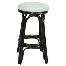 "Hospitality Rattan Vanessa 24"" barstool with cushion"