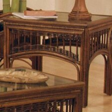 St. Lucia Rattan End Table