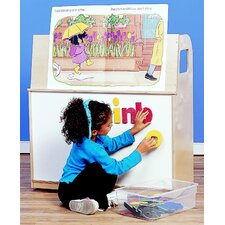 Wide Mobile Book Trolley with Magnetic/Dry Erase Front Panel