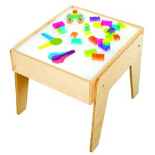 Childcraft Kids Square Mini Light Art and Crafts Table