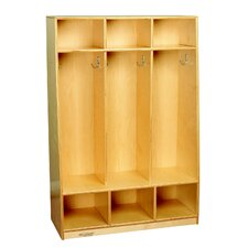 Childcraft 3-Unit Bench Coat Locker