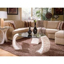 <strong>Magnussen Furniture</strong> Albany Glass Coffee Table Set