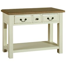 Zuma Console Table in Painted Ivory