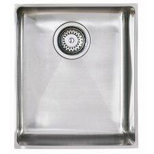 Onyx Single Bowl Inset Sink in Brushed Steel