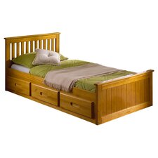Pine Mission Single Storage Bed Frame
