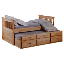 Single Captain Storage Bed Frame with Trundle