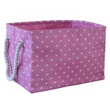 Small Rectangular Soft Storage in Pink Star