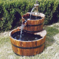 Two Tier Barrel Water Fountain