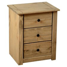 Balder 3 Drawer Bedside Table