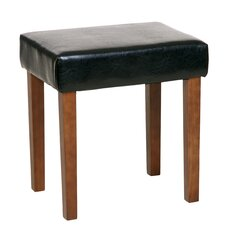 Alta Upholstered Faux Leather Dressing Table Stool