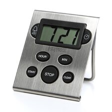 Digital and Clock Timer in Stainless Steel