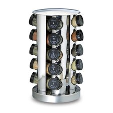20-Bottle Revolving Spice Tower in Stainless Steel