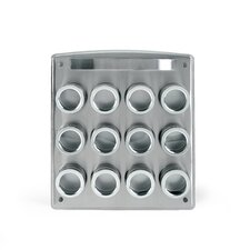 12 Tin Magnetic Spice Rack