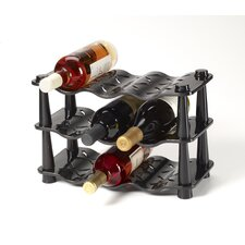 9 Bottle Wave Wine Rack