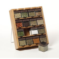 16 Cube Bamboo Inspirations Spice Rack