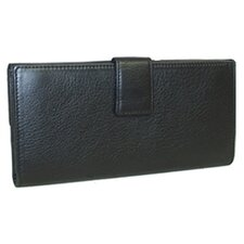 Devotion Snap Checkbook Wallet in Black