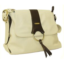 Virtue Messenger Bag in Cream with Chocolate