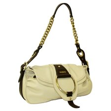 Virtue Flap Over Shoulder Bag in Cream with Chocolate