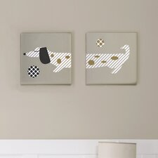 MiGi Puppy Play 2 Piece Wall Art