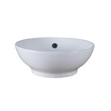 Round Vitreous China Vessel Bathroom Sink