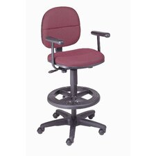Height Adjustable Loop Arms Dynamic Design Pneumatic Production Stool with Backrest