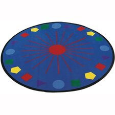 Educational Shapes Galore Kids Rug