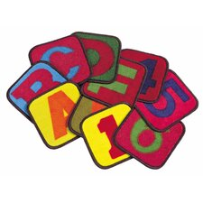 Educational Buidling Blocks Kids Rug