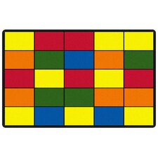 Educational Grid Kids Rug