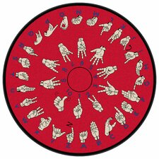 Educational Hands That Teach Kids Rug