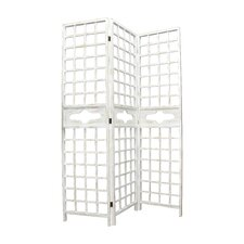 """78"""" H x 18.75"""" W Wood Screen 1 Panel Room Divider (Set of 2)"""