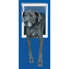 Medium White Aluminum Pet Door