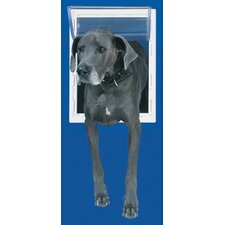 Super Large White Aluminum Pet Door