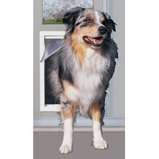 "10-1/2"" X 15"" XL White Modular Pet Patio Door"