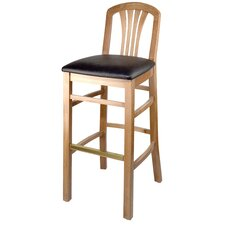 "Alex 24"" Bar Stool with Cushion"