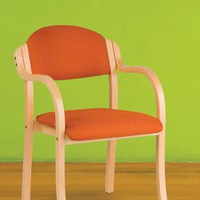"<strong>Holsag</strong> England Custom 18"" Beechwood Classroom Stacking Chair"