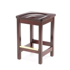 "Bulldog Mahogany Backless Bar Stool (24"" - 30"" Seats)"