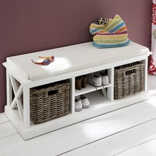 Halifax Wood Storage Entryway Bench
