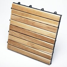 "<strong>Infinita Corporation</strong> Le Click Exclusive Teak 12"" x 12"" Interlocking Deck Tiles (Box of 10)"