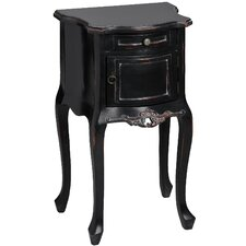 Noir 1 Drawer Bedside Table