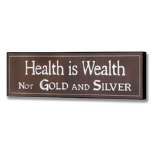 Health Wall Plaque