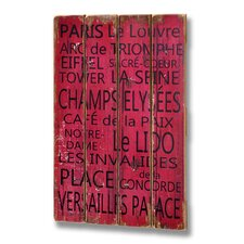 Paris Plank Style Wall Plaque