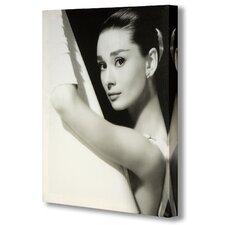 Audrey Hepburn in Shower Canvas Art