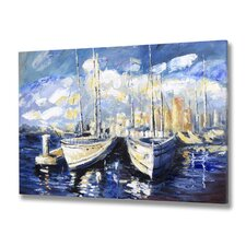 Sky Boat Canvas Art