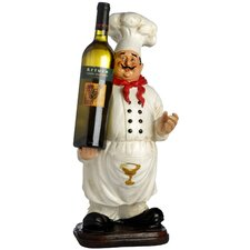 Chef Wine Bottle Holder Figurine