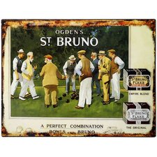 Ogden's St Bruno Tin Wall Plaque