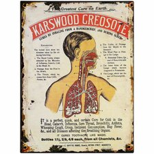 Karswood Creosote Tin Sign