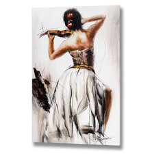Lady Playing the Violin Canvas Art