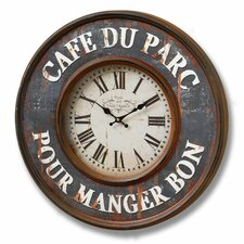 Cafe Du Parc Wall Clock