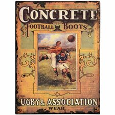 <strong>Hill Interiors</strong> Concrete Football Boots Tin Sign